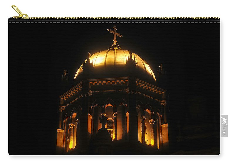 Flagler Memorial Carry-all Pouch featuring the photograph Church Lights by David Lee Thompson