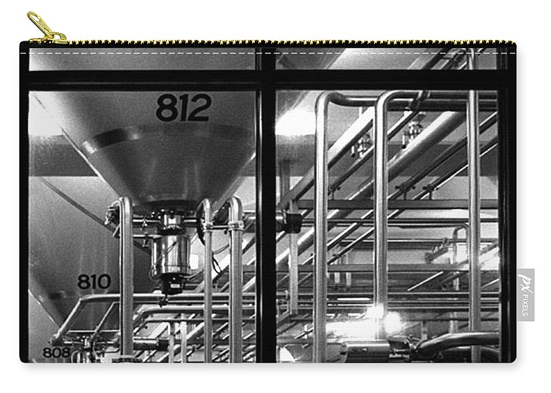 Black And White Carry-all Pouch featuring the photograph Church Of Modern Man by Peter Piatt