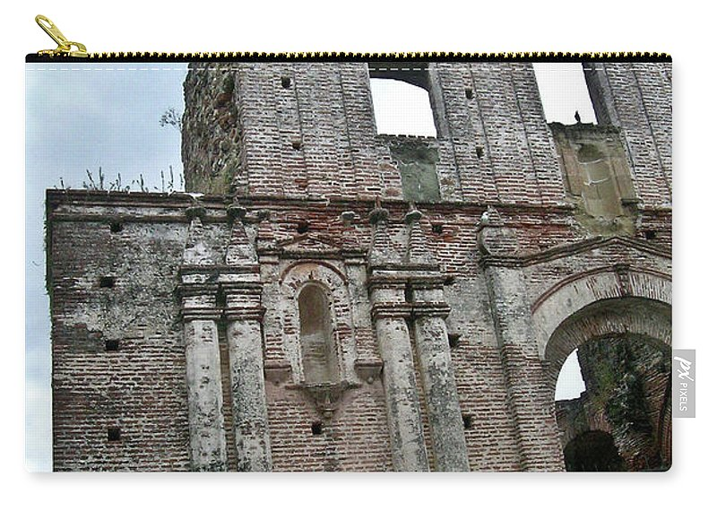Flat Carry-all Pouch featuring the photograph Church Of Santo Domingo 4 by Douglas Barnett