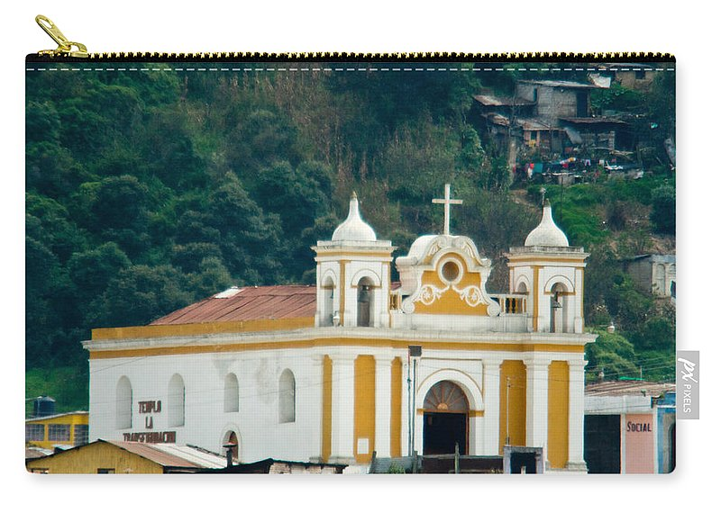 Quetzaltenango Guatemala Carry-all Pouch featuring the photograph Church Of The Transfiguration Quetzaltenango Guatemala 2 by Douglas Barnett