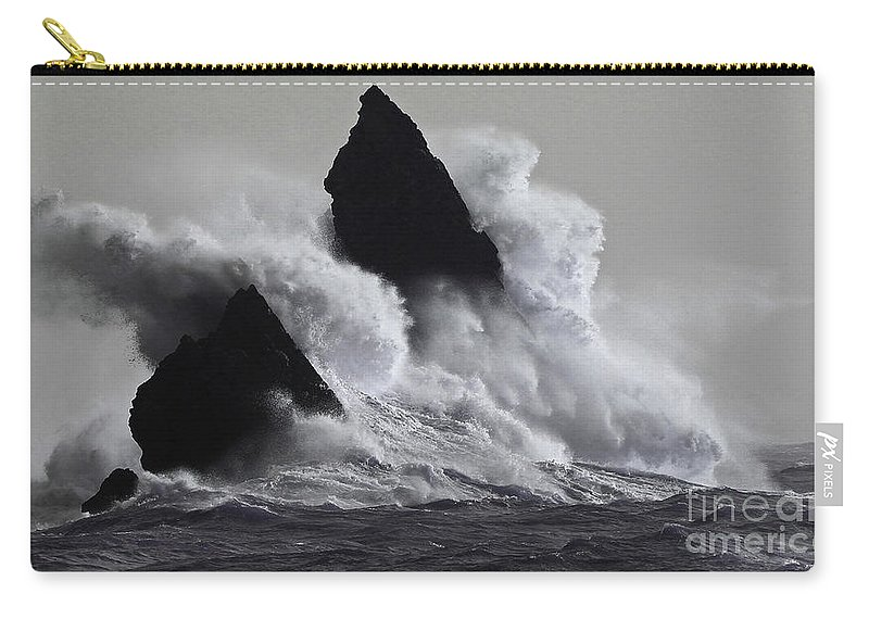 Ocean Carry-all Pouch featuring the photograph Church Rock Explosion by Mark Haynes