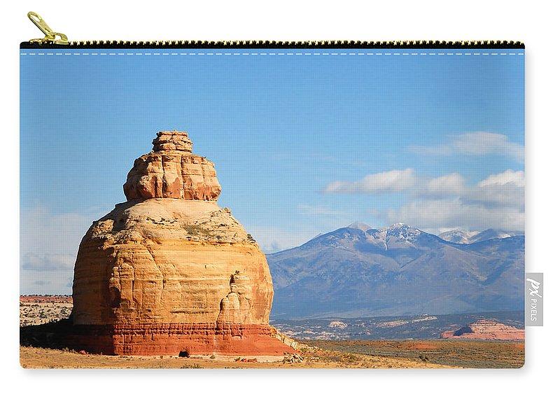 Church Rock Utah Carry-all Pouch featuring the photograph Church Rock Utah by David Lee Thompson