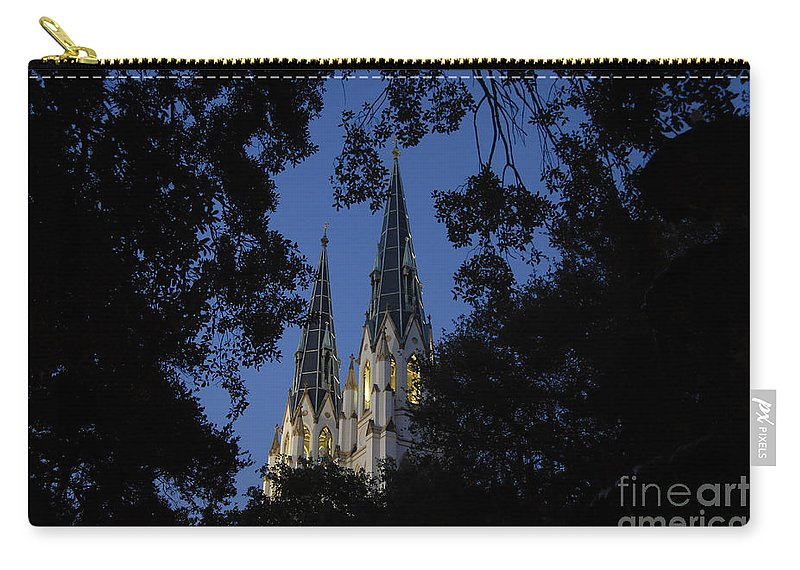 Church Steeple Carry-all Pouch featuring the photograph Church Steeples by David Lee Thompson