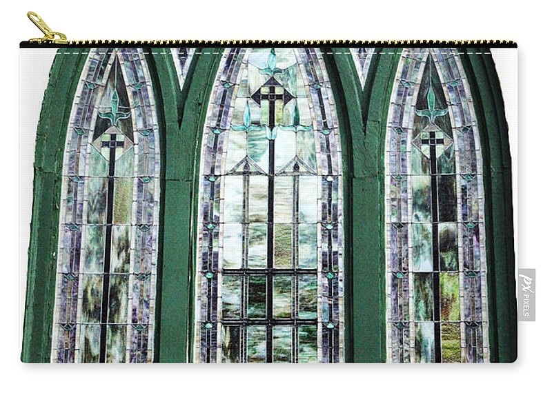 Window Carry-all Pouch featuring the photograph Church Window by Amanda Barcon