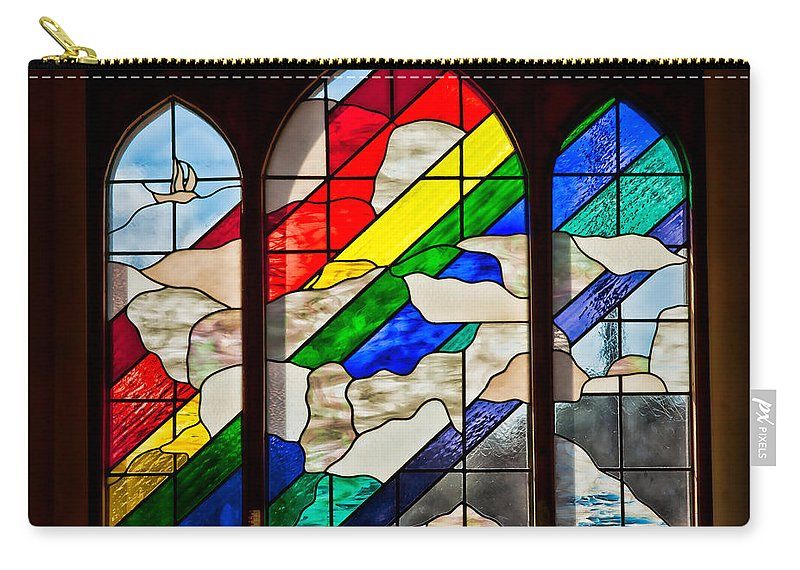 Architecture Carry-all Pouch featuring the photograph Church Window by Christopher Holmes