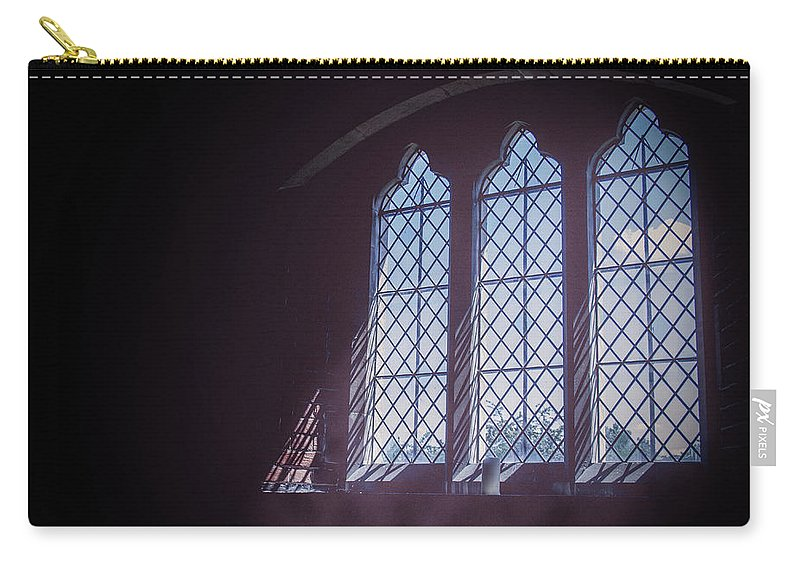 Street Carry-all Pouch featuring the photograph Church Window by Joe Rey