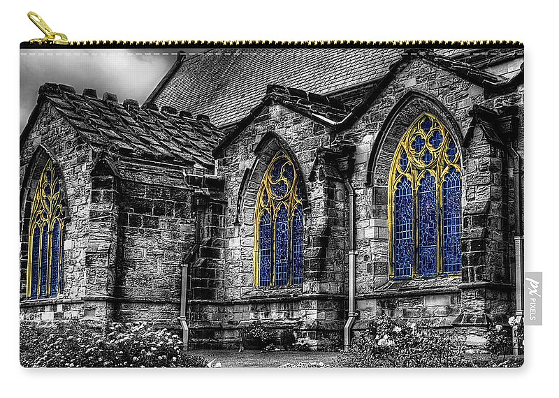 Door Carry-all Pouch featuring the photograph Church Windows by Svetlana Sewell