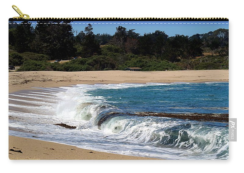 Beach Carry-all Pouch featuring the photograph Churning Surf At Monastery Beach by Joyce Dickens