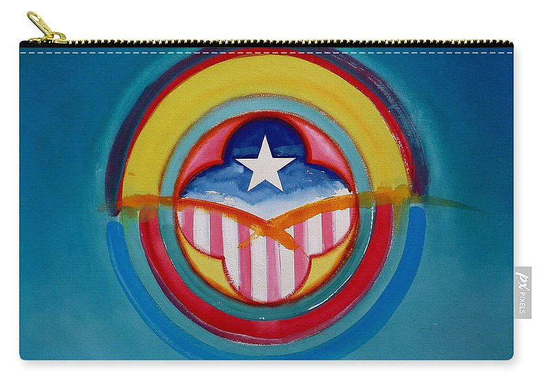 Button Carry-all Pouch featuring the painting CIA by Charles Stuart
