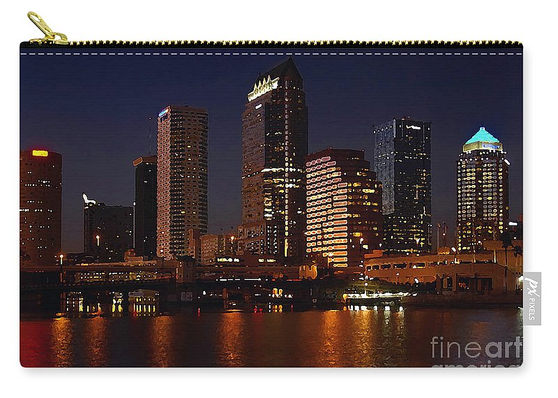 Tampa Florida Carry-all Pouch featuring the photograph Cigar City by David Lee Thompson