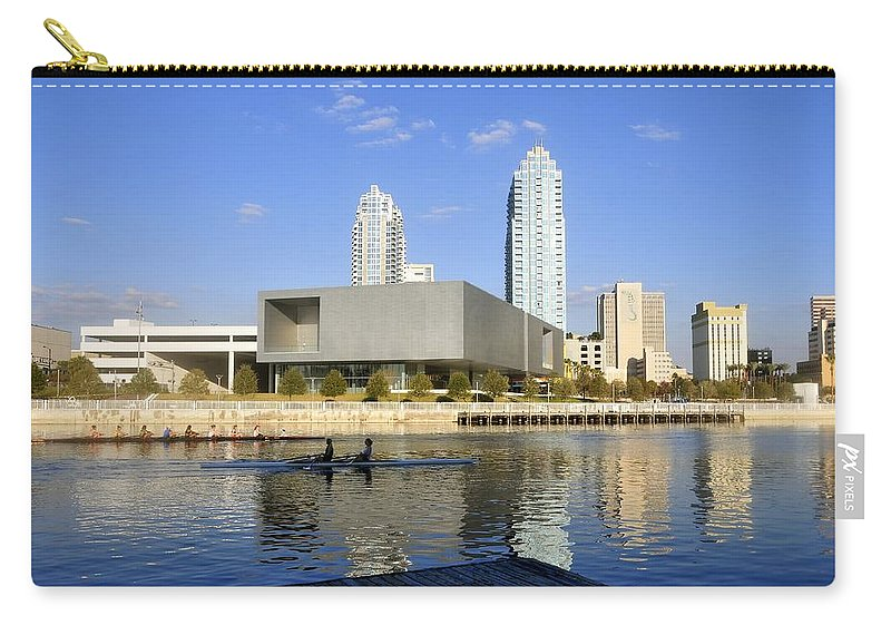 Tampa Florida Carry-all Pouch featuring the photograph Cigar City Rowing by David Lee Thompson