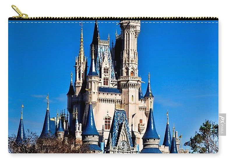 Cinderella Castle Carry-all Pouch featuring the photograph Cinderella Castle by Tommy Anderson