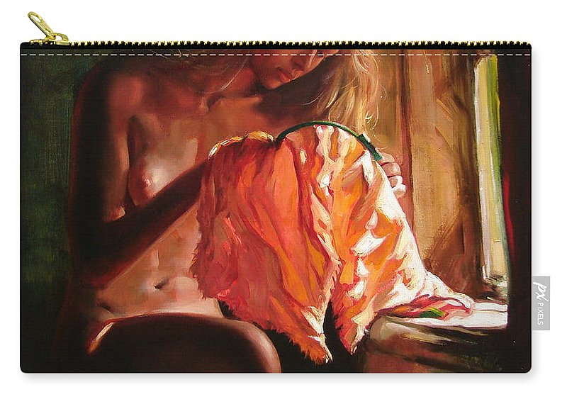 Ignatenko Carry-all Pouch featuring the painting Cinderella by Sergey Ignatenko