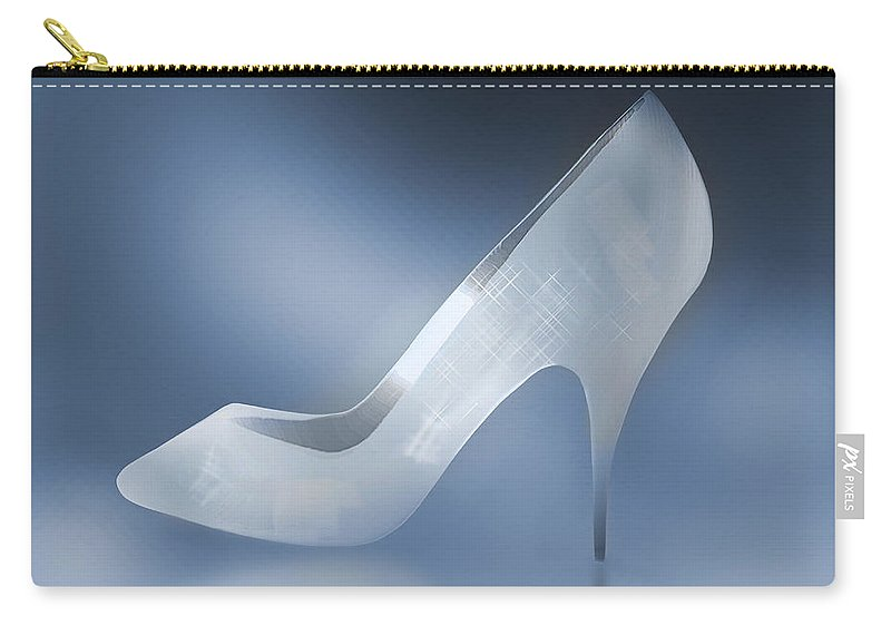 Shoes Carry-all Pouch featuring the photograph Cinderella's Slipper by Yuri Lev