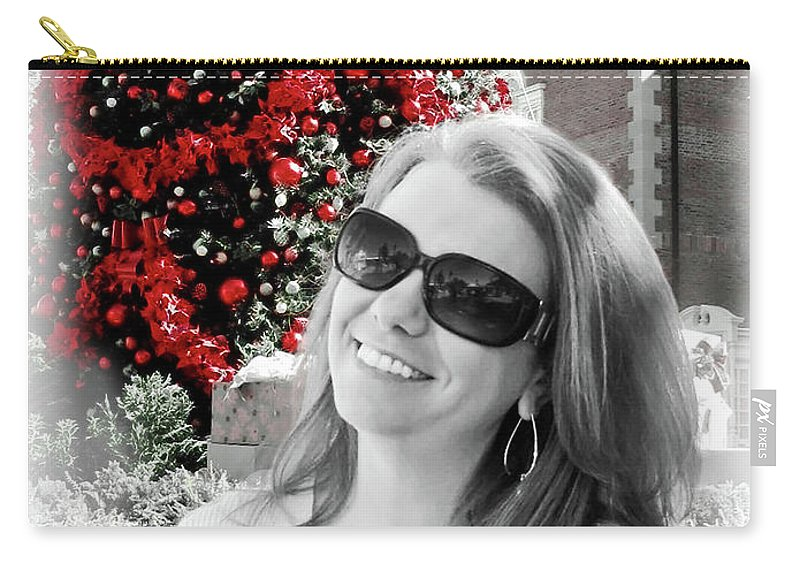 Christmas Carry-all Pouch featuring the digital art Cindy by Joan Minchak