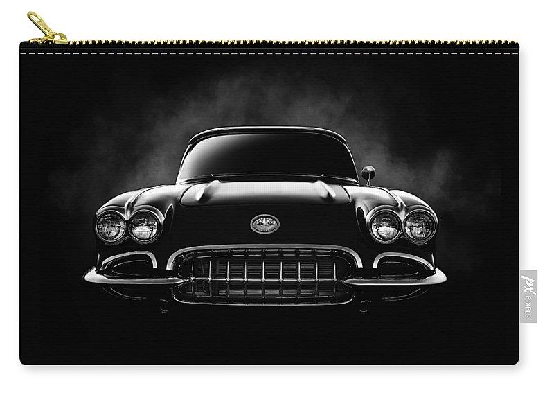 Corvette Carry-all Pouch featuring the digital art Circa '59 by Douglas Pittman