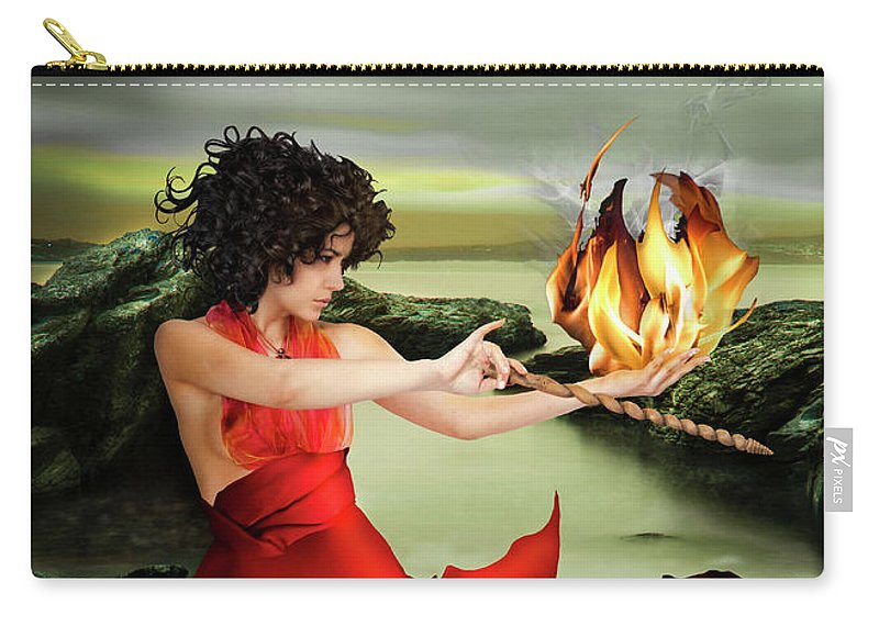 Circe Carry-all Pouch featuring the photograph Circe, Greek Mythological Goddess by Debra Jayne