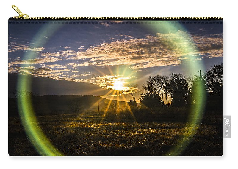 Sunrise Carry-all Pouch featuring the photograph Circle Of Life by Jeff Sebaugh