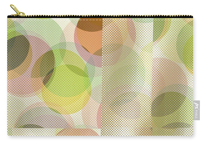 Abstract Carry-all Pouch featuring the digital art Circle Pattern Overlay II by Ruth Palmer