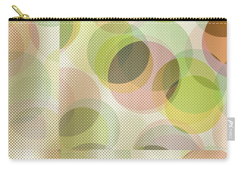 Abstract Carry-all Pouch featuring the digital art Circle Pattern Overlay by Ruth Palmer