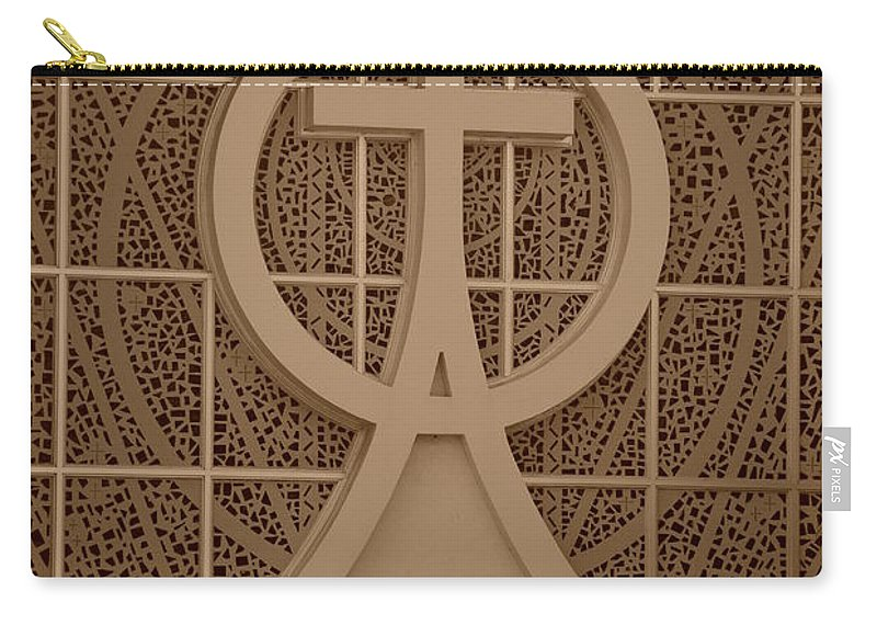 Sepia Carry-all Pouch featuring the photograph Circle T Church by Rob Hans