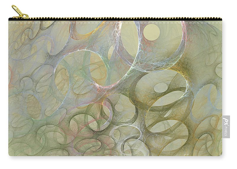 Fractal Carry-all Pouch featuring the digital art Circles In Circles by Deborah Benoit