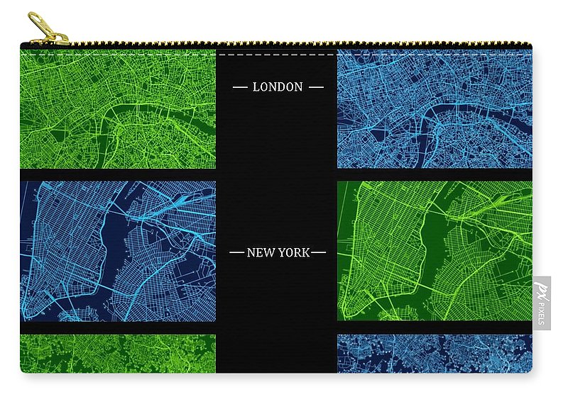 Sydney Carry-all Pouch featuring the digital art Circuit Board Cities Gallery Plate by Kaleidoscopik Photography