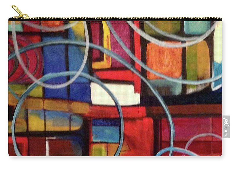 Abstract Carry-all Pouch featuring the painting Circular Confusion by Kathy Othon