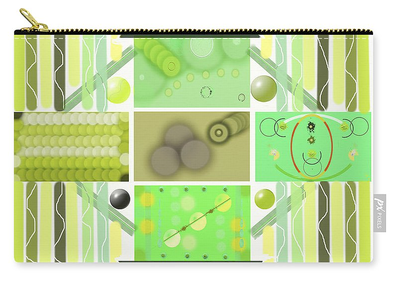 Abstract Carry-all Pouch featuring the digital art Circular Connections by SC Heffner
