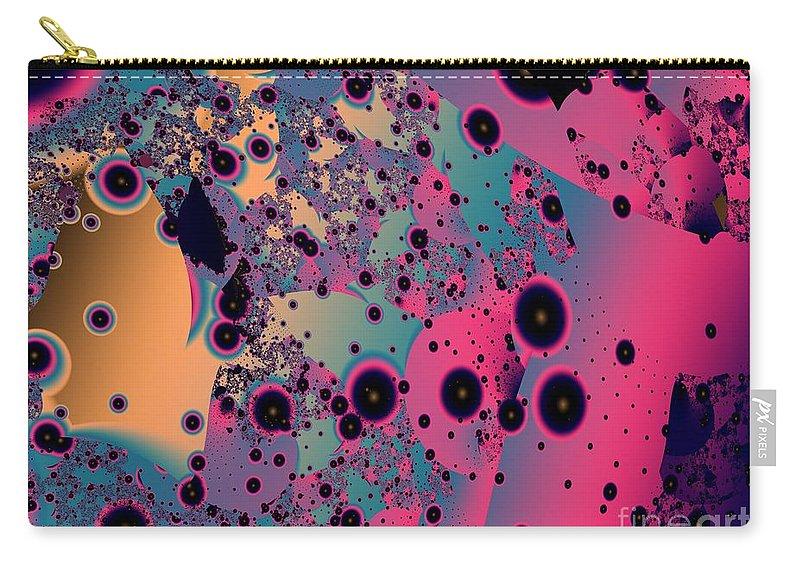 Fractal Art Carry-all Pouch featuring the digital art Circumstellar Dust by Ron Bissett