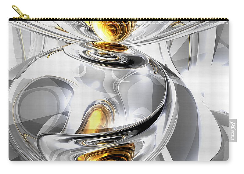 3d Carry-all Pouch featuring the digital art Circumvoluted Abstract by Alexander Butler