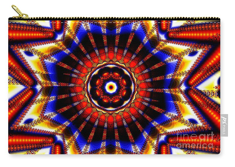 Clay Carry-all Pouch featuring the digital art Circus by Clayton Bruster