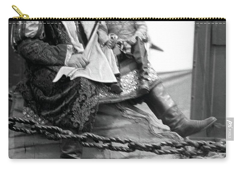 Circus Giant Carry-all Pouch featuring the photograph Circus Giant And Harry Doll by Unknown