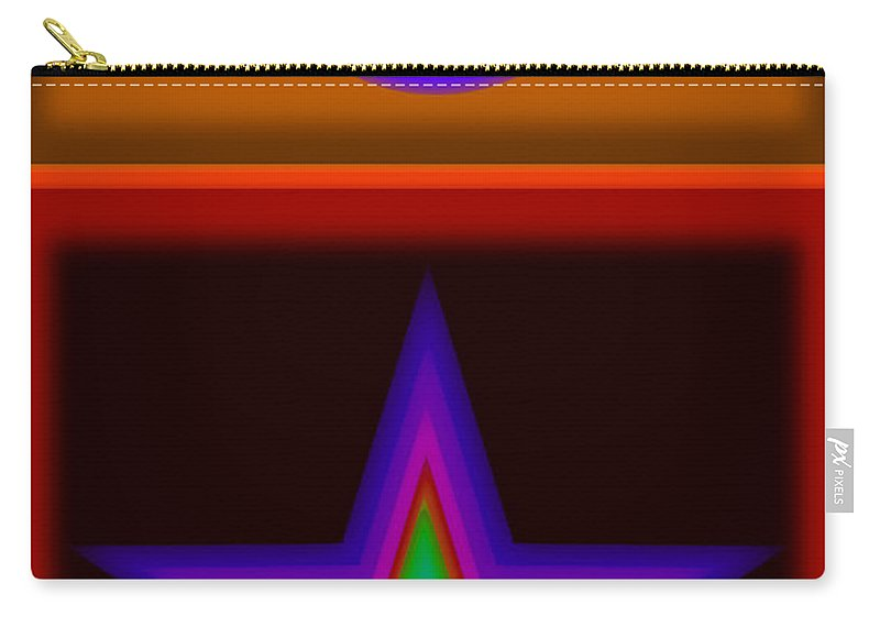 Classical Carry-all Pouch featuring the digital art Circus Star by Charles Stuart