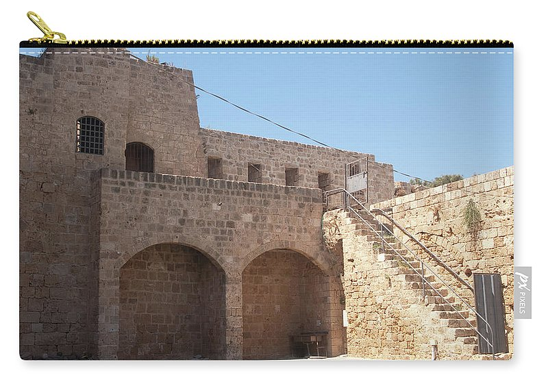 Citadel Carry-all Pouch featuring the photograph Citadel In Akko by Adam Gladstone
