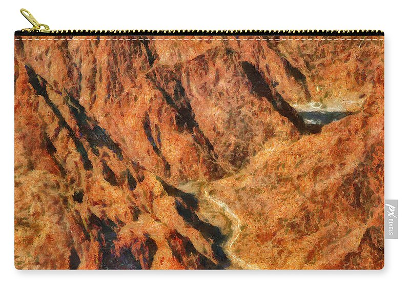 Savad Carry-all Pouch featuring the photograph City - Arizona - Grand Canyon - A Look Into The Abyss by Mike Savad