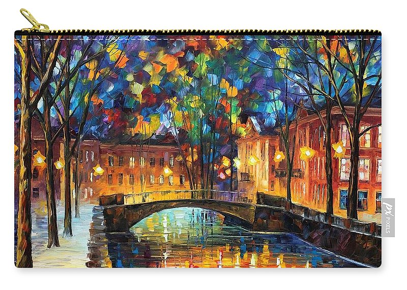 Afremov Carry-all Pouch featuring the painting City Bridge by Leonid Afremov