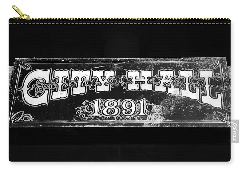 City Hall Carry-all Pouch featuring the photograph City Hall 1891 by David Lee Thompson