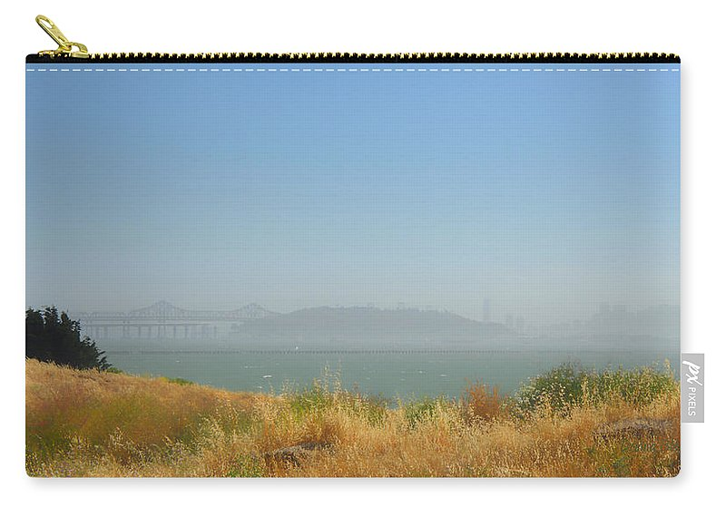 San Francisco Carry-all Pouch featuring the photograph City In The Fog by Donna Blackhall