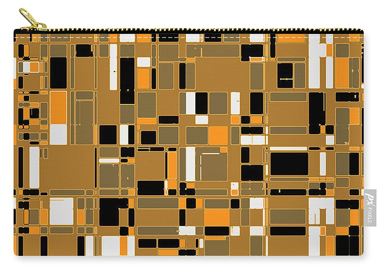 Joy Mckenzie Carry-all Pouch featuring the digital art City Life Series No. 3 by Joy McKenzie