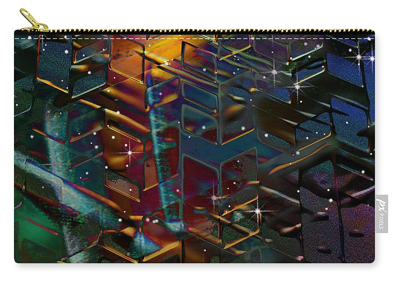 City Carry-all Pouch featuring the digital art City Lights by Phil Sadler
