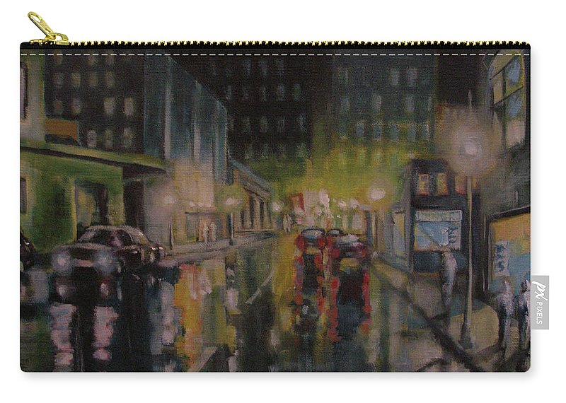 Night Carry-all Pouch featuring the painting City Night by Robert Gurgul