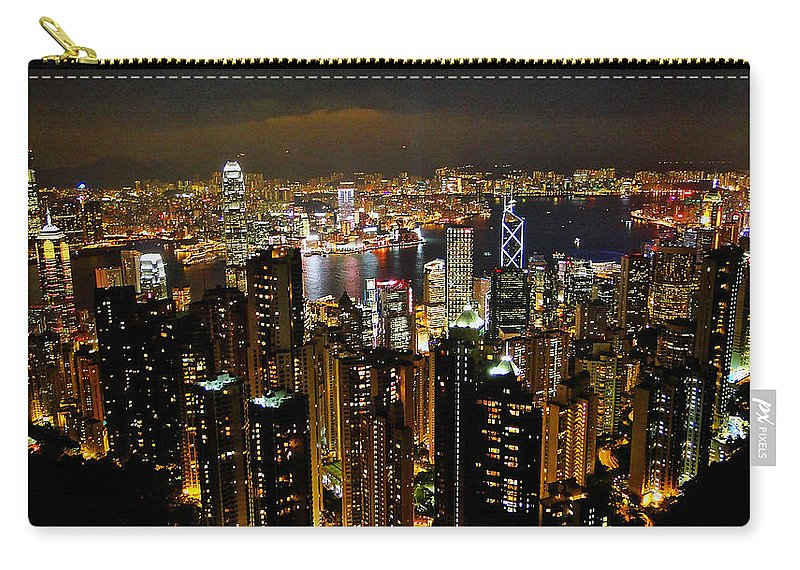 Hong Kong Carry-all Pouch featuring the photograph City Of Lights by Blair Wainman