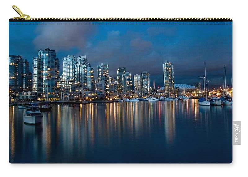 Vancouver Carry-all Pouch featuring the photograph City Of Vancouver British Columbia Canada by Movie Poster Prints