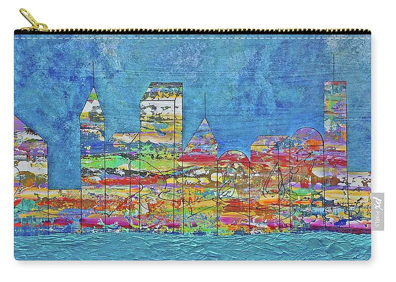 City Carry-all Pouch featuring the painting City On The Water by Eric Barnes