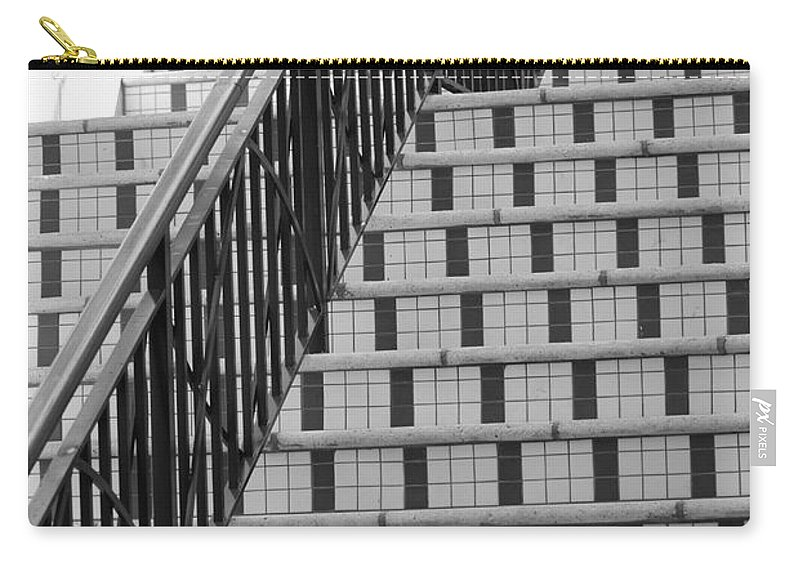 Architecture Carry-all Pouch featuring the photograph City Stairs II by Rob Hans