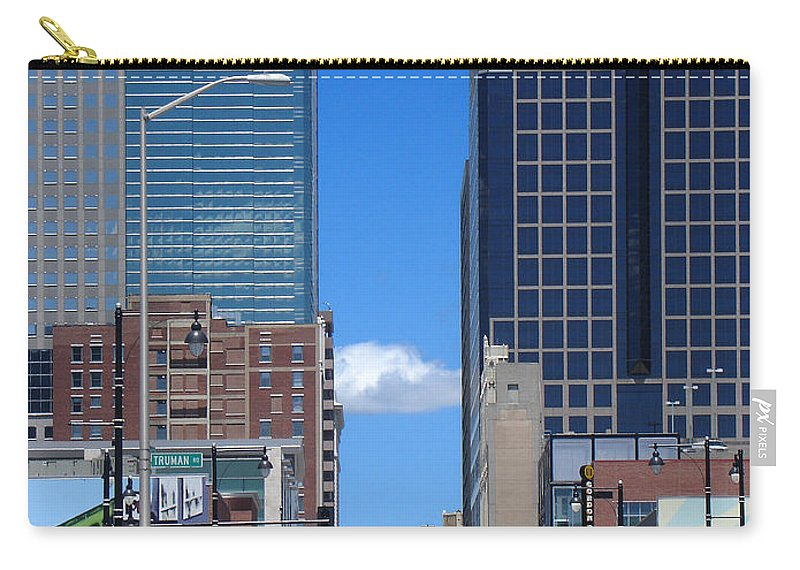 Kansas City Carry-all Pouch featuring the photograph City Street Canyon by Steve Karol