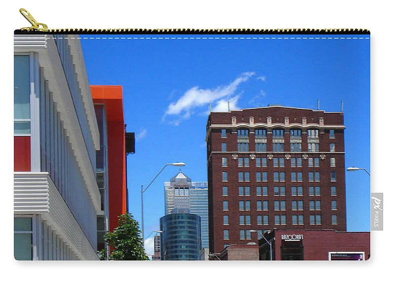 Kansas City Carry-all Pouch featuring the photograph City Street by Steve Karol