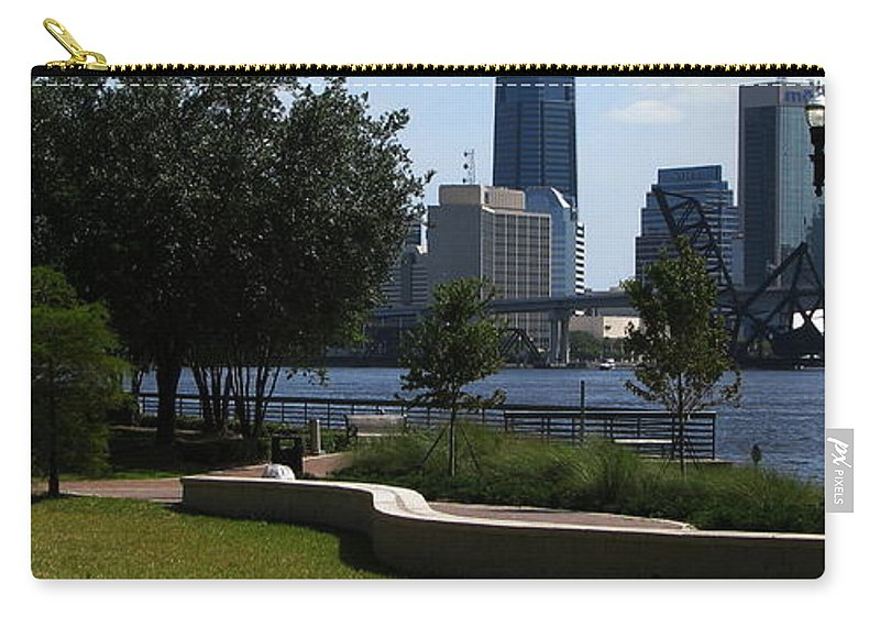 Art For The Wall...patzer Photography Carry-all Pouch featuring the photograph City Way by Greg Patzer