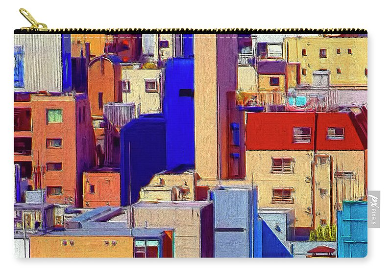 Cityscape Carry-all Pouch featuring the painting Cityscape by Dominic Piperata